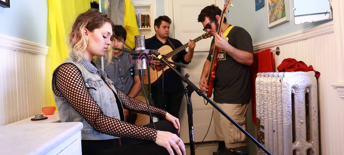Strains Of A Sunflower performs a Tiny Bathroom Concerts. (Alec Hutson)
