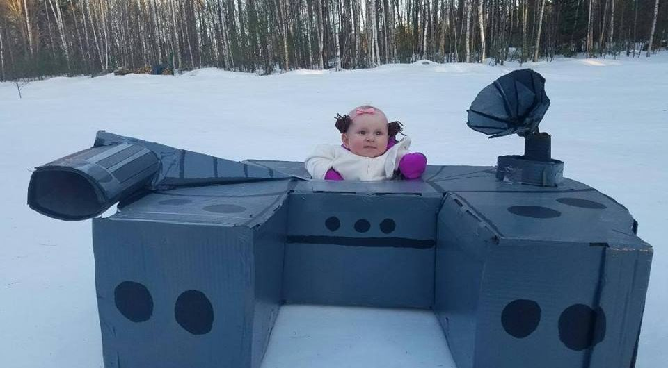Cardboard Box Sled Derby at Castle In The Clouds, Moultonborough, New Hampshire. (Courtesy)