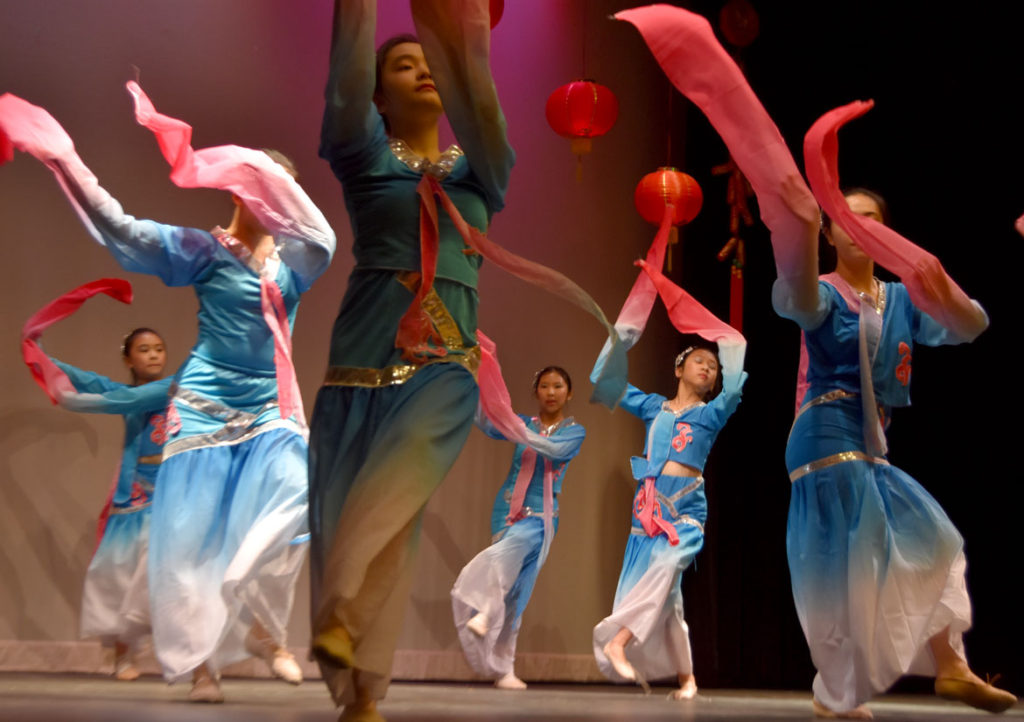 Chinese Lunar New Year Celebration at Malden High School, Feb. 10, 2018. (Greg Cook)