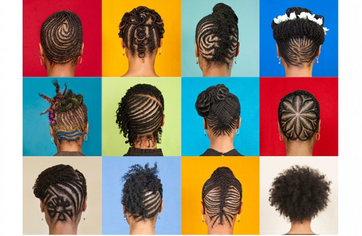 "Sonya Clark, ""The Hair Craft Project."" (Courtesy of the artist)"