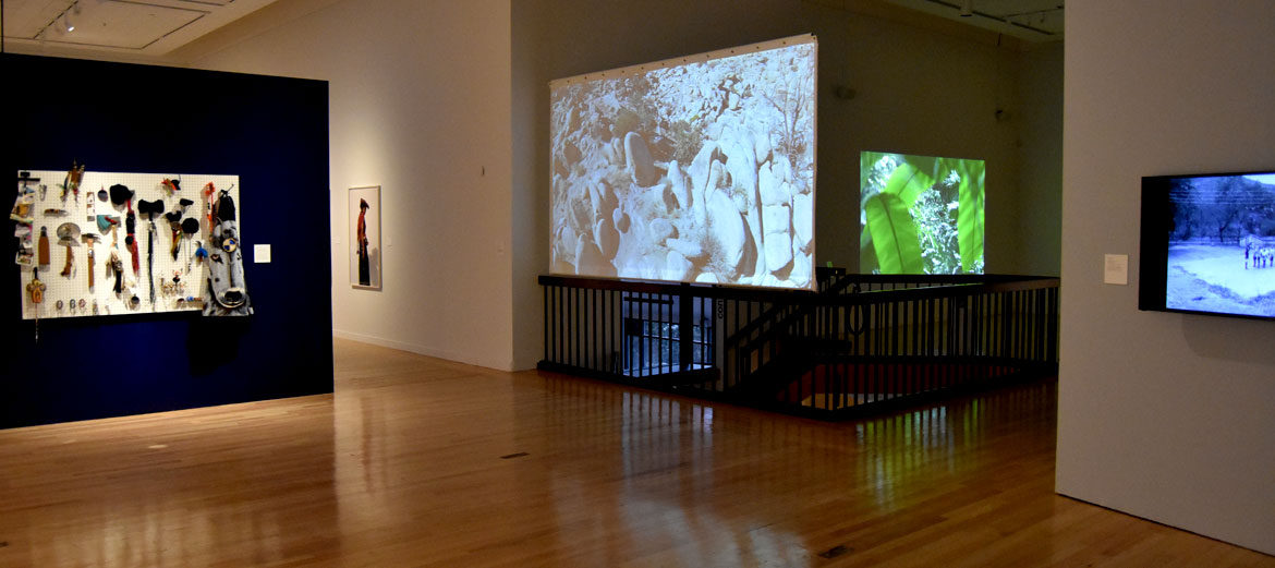 """""""A Decolonial Atlas"""" at Tufts University Art Gallery, 2018. (Greg Cook)"""
