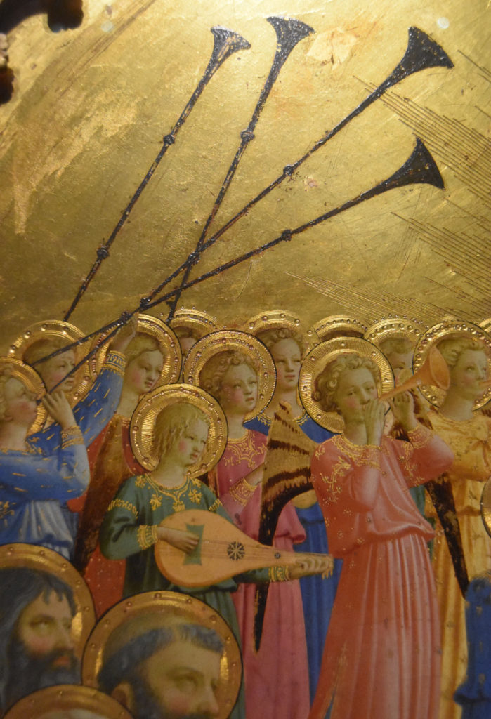 "An angel band in Fra Angelico ""Paradise,"" 1431–35. (Greg Cook)"