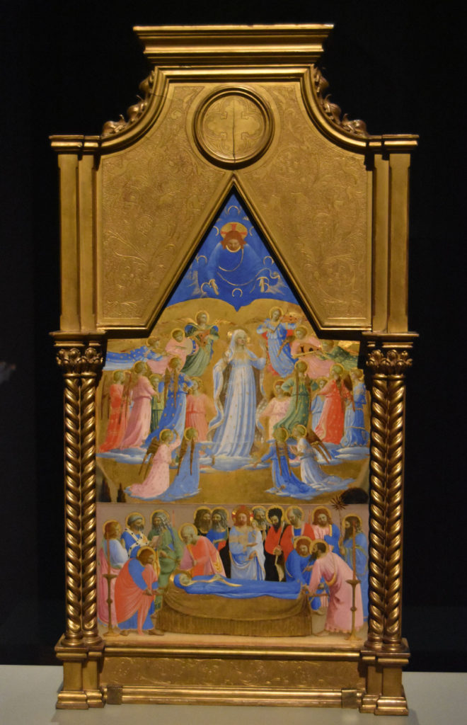 "Fra Angelico ""The Dormition and Assumption of the Virgin,"" about 1433/34. (Greg Cook)"