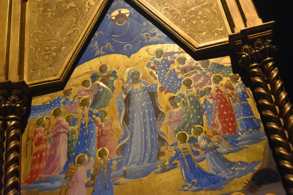 "Detail of Fra Angelico ""The Dormition and Assumption of the Virgin,"" about 1433/34. (Greg Cook)"