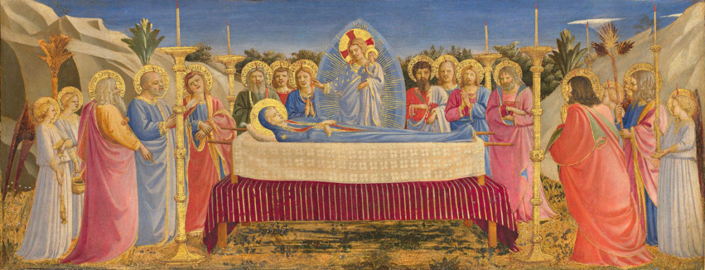 "Fra Angelico ""The Dormition of the Virgin,"" 1431–35. (Courtesy of Gardener Museum)"
