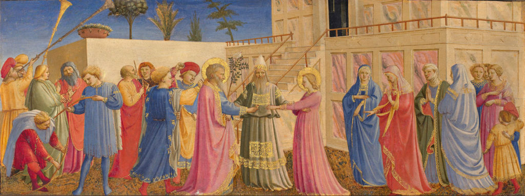 "Fra Angelico ""The Marriage of the Virgin,"" 1431–35. (Courtesy Gardner Museum)"