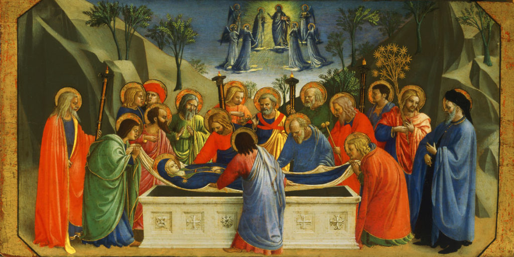"Fra Angelico ""The Dormition and Assumption of the Virgin,"" about 1425. (Courtesy of Gardener Museum)"