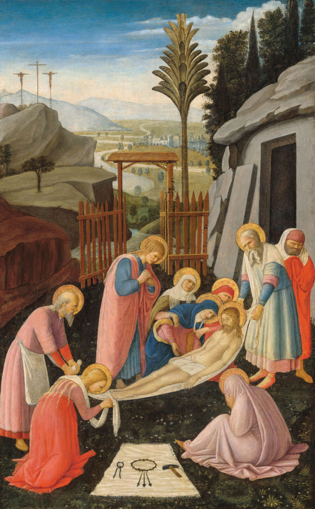 "Fra Angelico ""The Entombment of Christ,"" about 1450. (Courtesy Gardner Museum)"