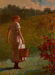 """Winslow Homer's 1874 oil painting """"Returning from the Spring."""" (Portland Museum of Art)"""