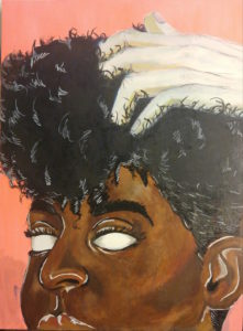"Derrick Jamison's painting ""Don't Touch My Hair."" (Courtesy of the artist)"