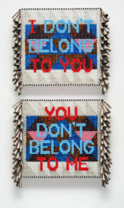 "Jeffrey Gibson, ""I Don't Belong to You, You Don't Belong to Me,"" 2016. (Courtesy Tufts)"