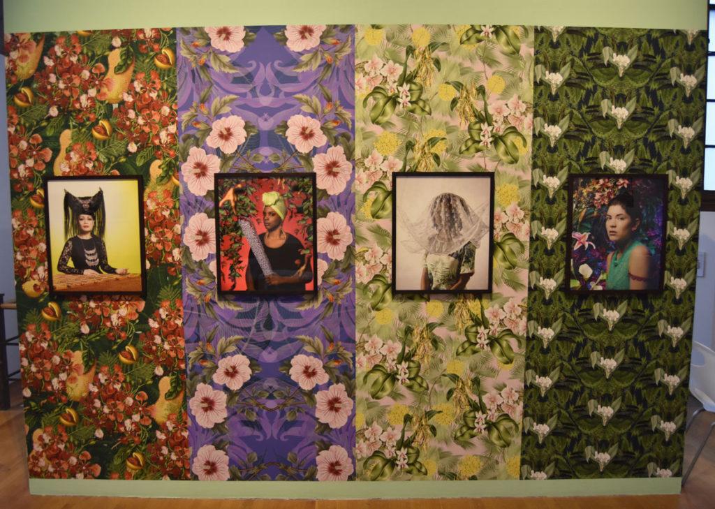 "Tiffany Smith ""A Woman, Phenomenally,"" 2015, archival inkjet prints and custom vinyl wallpaper. (Greg Cook)"