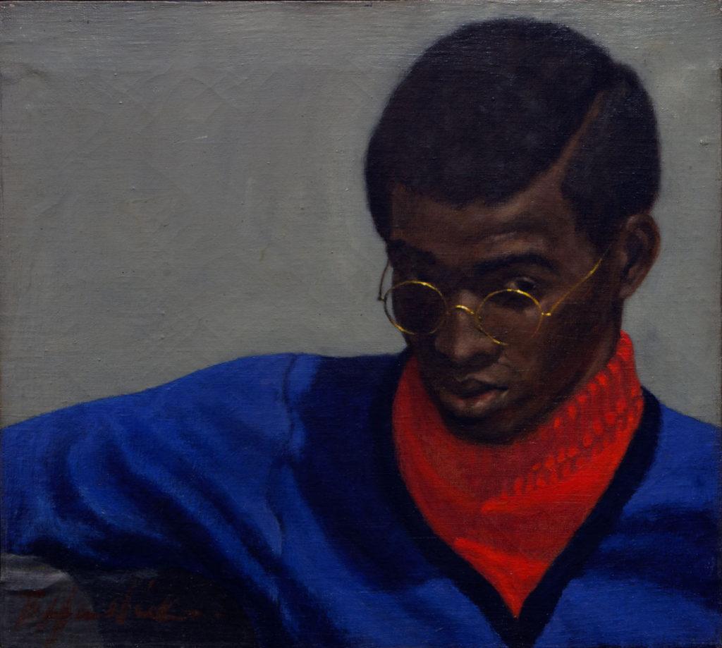 """Barkley Hendricks """"'Toast' of Amos,"""" 1966, oil on canvas. (Eduardo Rivera)"""