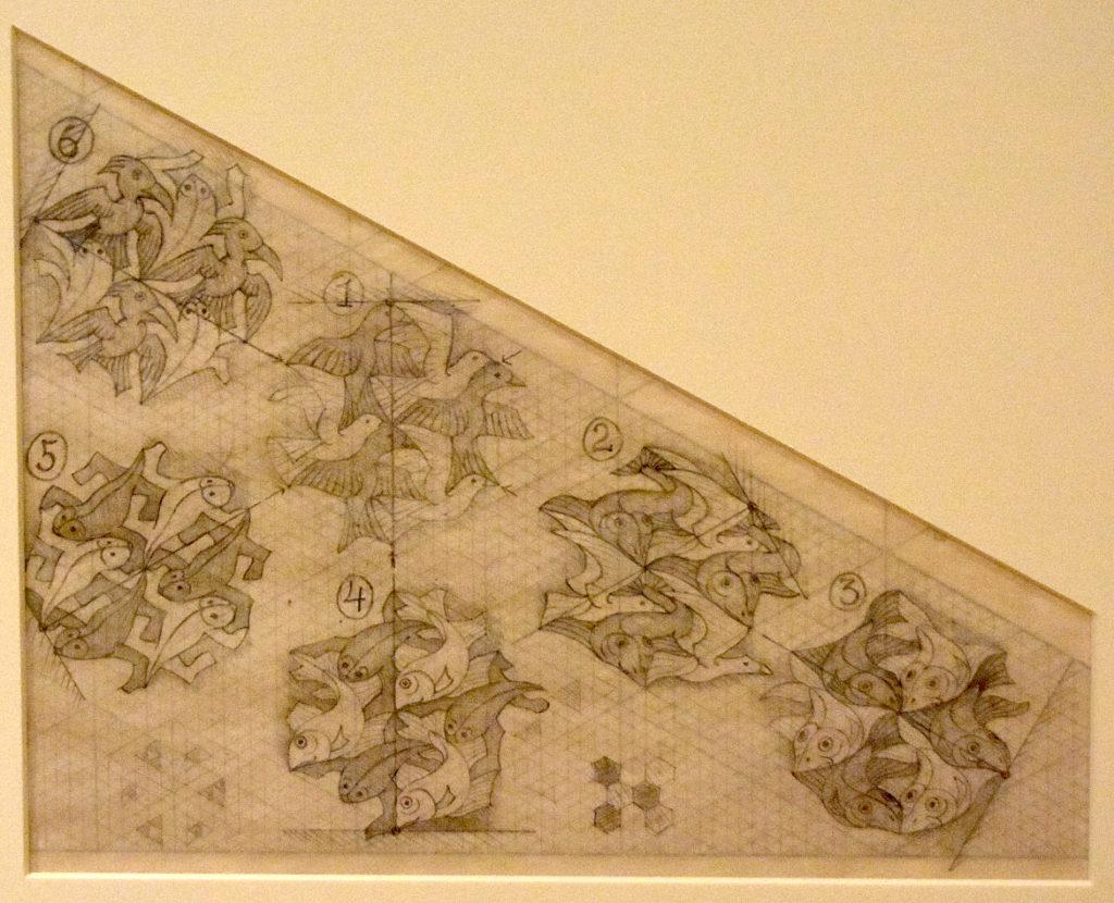 "M.C. Escher ""Study for Verbum"" c. 1942 pencil on paper. (Greg Cook)"