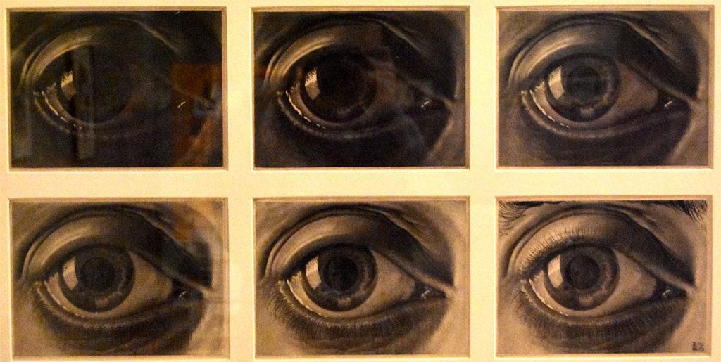 "M.C. Escher ""Eye"" 1946 mezzotint and drypoint. (Greg Cook)"