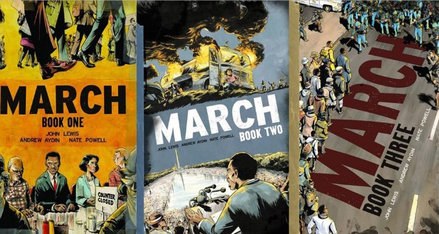 """""""March"""" by Congressman John Lewis, Andrew Aydin and Nate Powell. (Top Shelf)"""