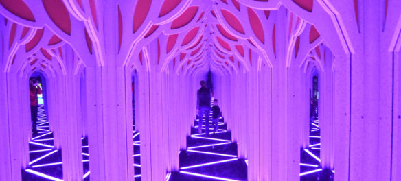 "The ""Mirror Maze"" at the Boston Museum of Science. (Greg Cook)"