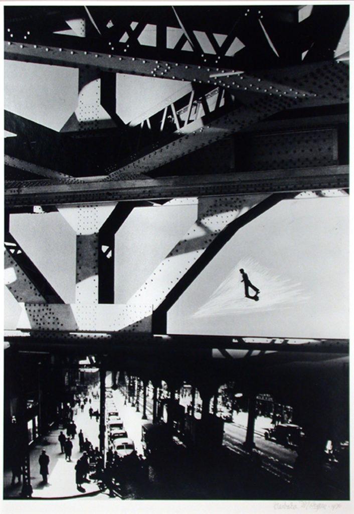 "Barbara Morgan, ""Third Avenue El,"" 1936, Gelatin silver print, 17 x 11 7/8 inches. (Courtesy of the Syracuse University Art Collection)"