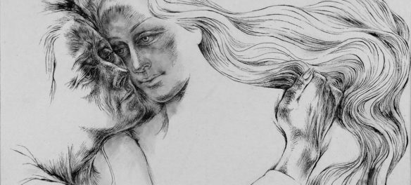 "Barbara Swan ""Rapunzel,"" 1970-71, ink on paper. (Courtesy of Alpha Gallery)"
