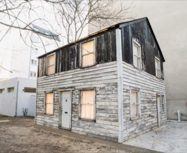The house civil rights pioneer Rosa Parks lived in for a time was restored by Berlin-based American artist Ryan Mendoza, who exhibited it in his back yard. (Brown University | Fabia Mendoza)