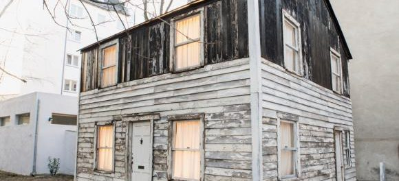The house civil rights pioneer Rosa Parks lived in for a time was restored by Berlin-based American artist Ryan Mendoza, who exhibited it in his back yard. (Brown University   Fabia Mendoza)