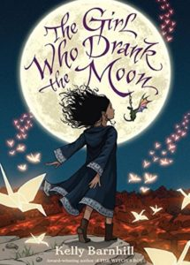 "Kelly Barnhill's 2016 young adult novel ""The Girl Who Drank the Moon."""