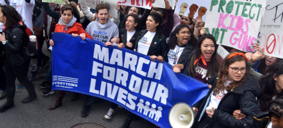 The front of the March For Our Lives: Boston, March 24, 2018. (Greg Cook)