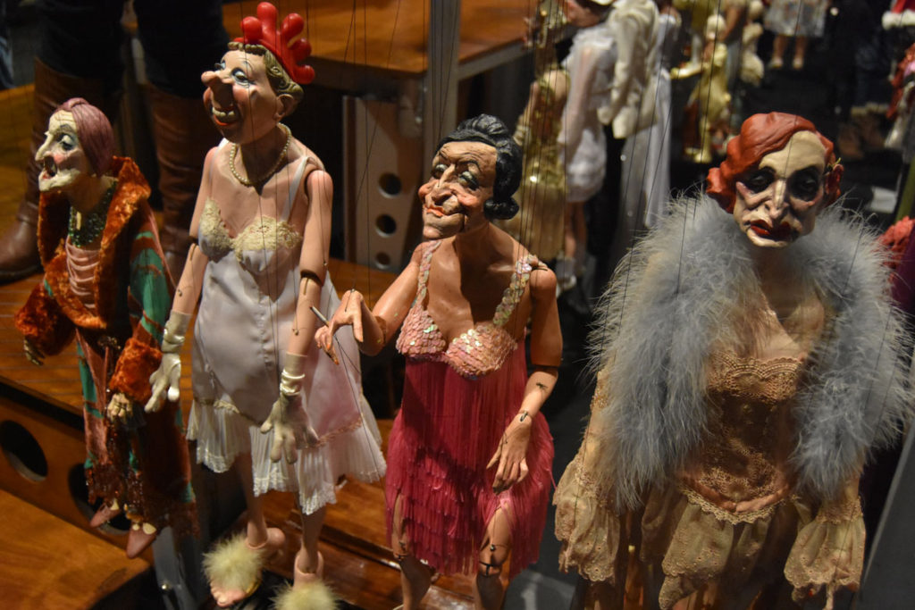 "Faded divas marionettes backstage after Ronnie Burkett's ""The Daisy Theater"" in Montreal, March 8, 2018. (Greg Cook)"