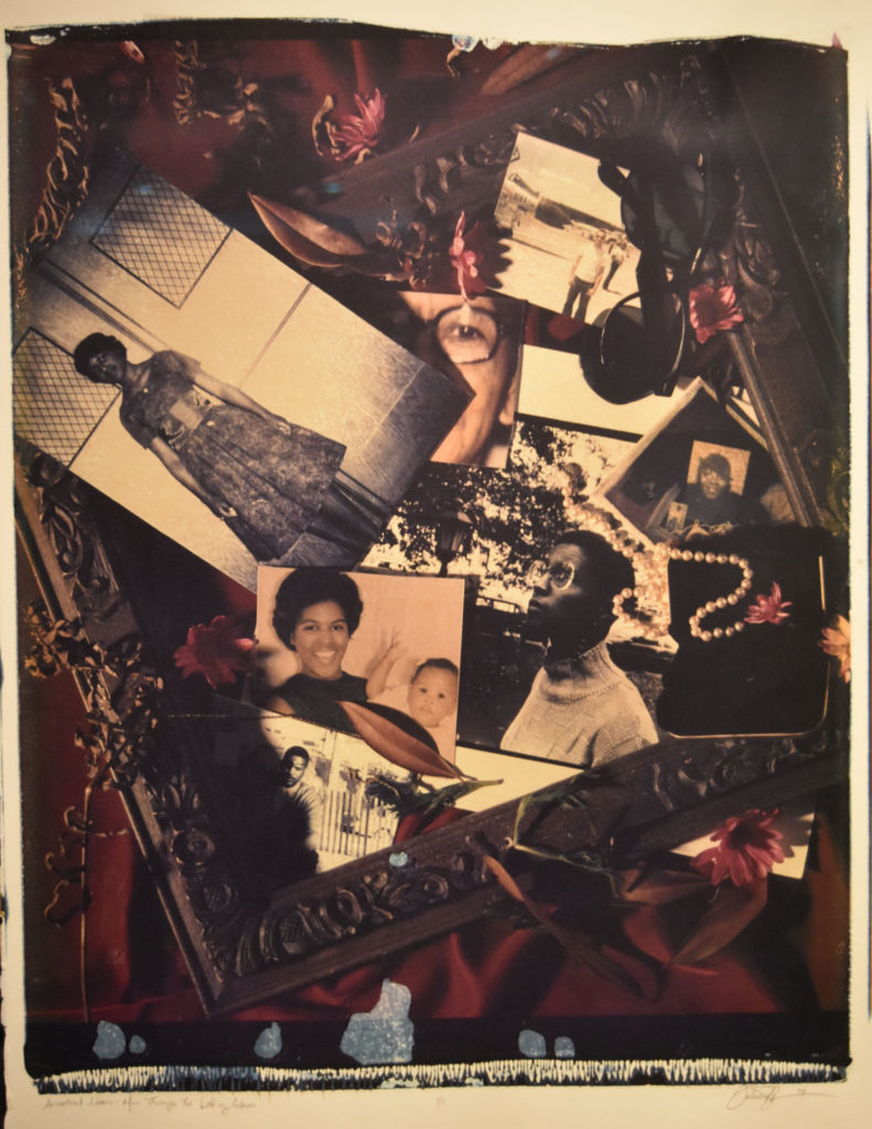 "Felicia Megginson ""Ancestral Altar: Mom Through the Looking Glass,"" 1994, Polaroid diffusion transfer print."