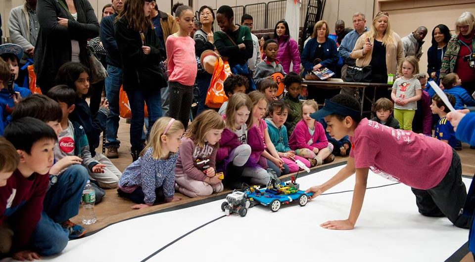 Robot Block Party at Pizzitola Sports Center, Providence.