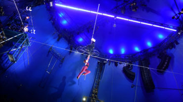 The Big Apple Circus' high-wire act featuring couple Nik and Erendira Wallenda. (Greg Cook)