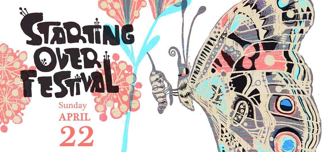 """""""Starting Over Festival"""" poster by Kari Percival."""