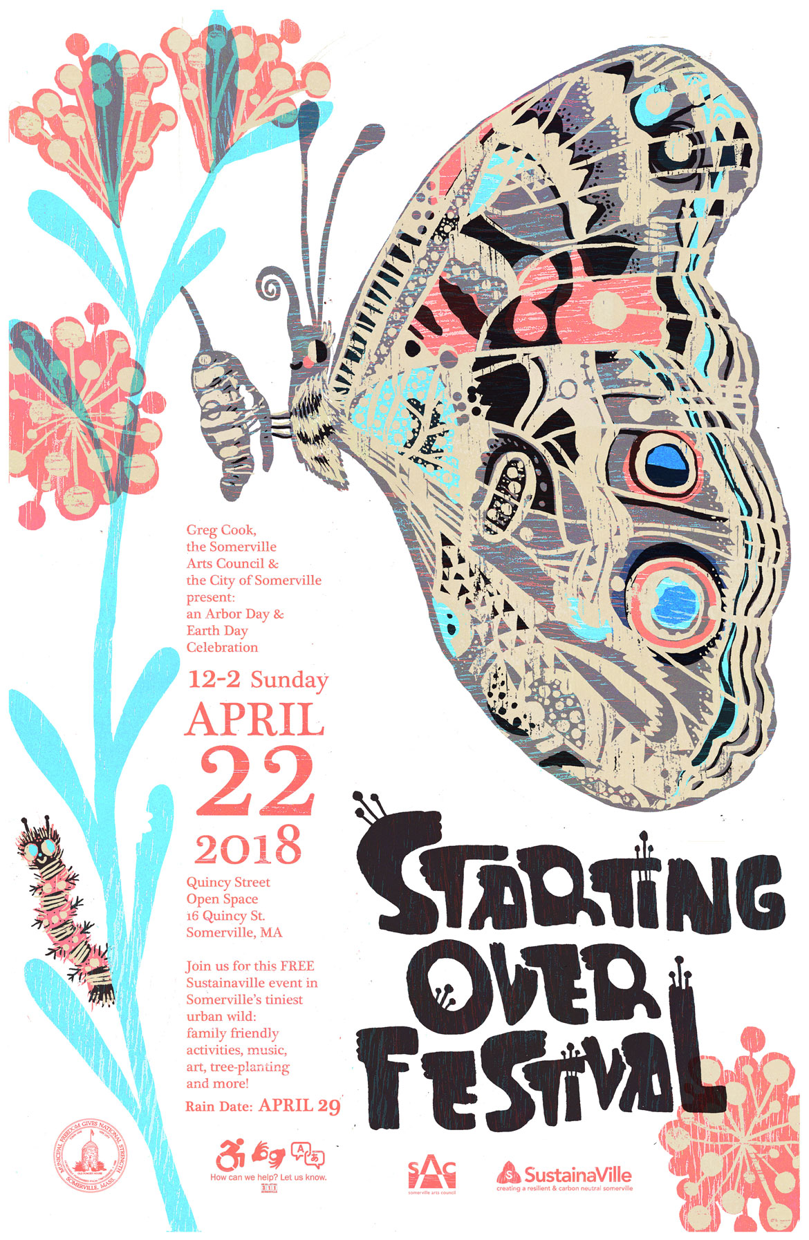 """Starting Over Festival"" poster by Kari Percival."