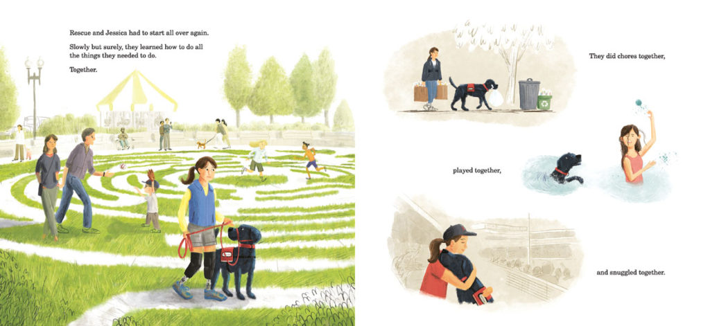 "From ""Rescue and Jessica: A Life-Changing Friendship"" authored by Jessica Kensky and Patrick Downes and illustrated by Scott Magoon. (Courtesy Candlewick Press)"