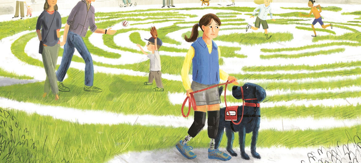 "From ""Rescue and Jessica: A Life-Changing Friendship"" text copyright © 2018 by Jessica Kensky and Patrick Downes, illustrations copyright © 2018 by Scott Magoon. (Reproduced by permission of the publisher, Candlewick Press, Somerville, Mass.)"