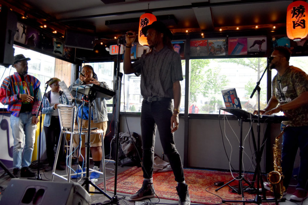 Cliff Notez performs at Hojoko at the Verb Hotel, May 18, 2018. (Greg Cook)