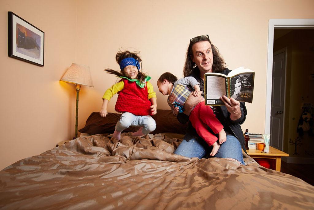"John Powhida from Kelly Davidson's ""Rock Parents"" series."