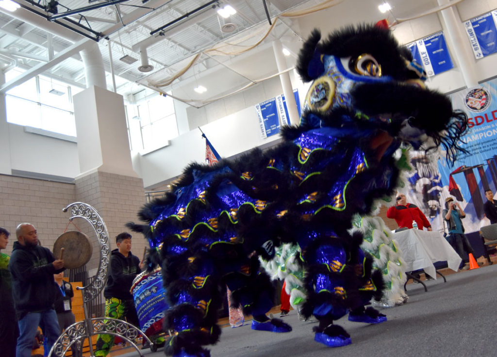 USDLDF Dragon and Lion Dance National Championships at Quincy High School Gymnasium, May 27, 2018. (Greg Cook)