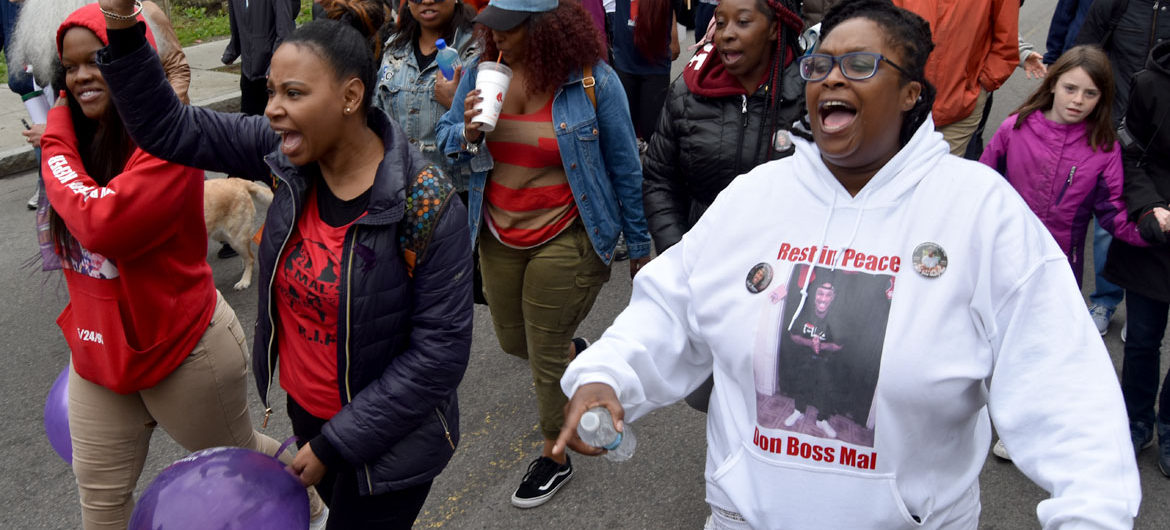 The 22nd Annual Anti-Gun Violence Mother's Day Walk For Peace In Dorchester, Boston, May 13, 2018. (Greg Cook)