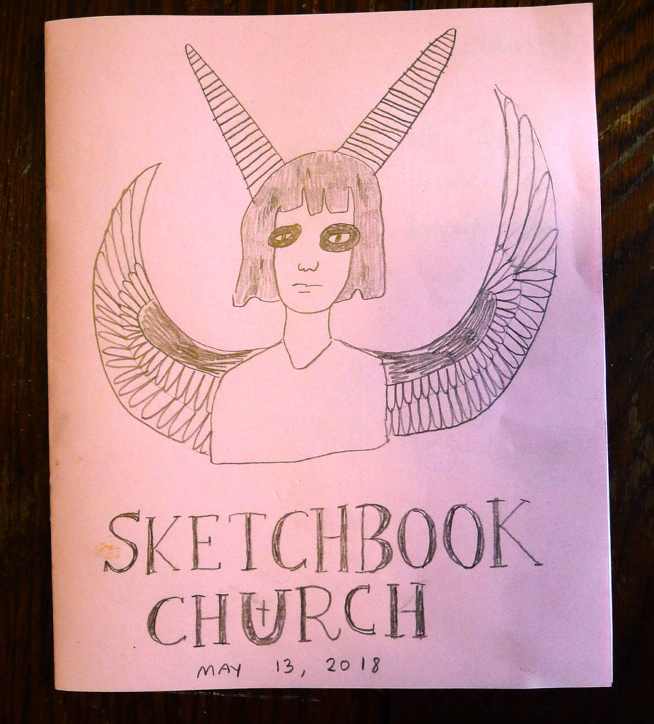 Drawing from the Providence Comics Consortium Sketchbook Church at Ada Books. (Courtesy)