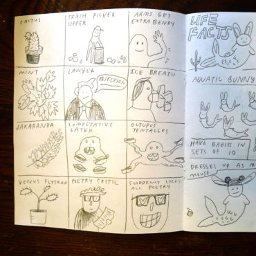 Drawings from the Providence Comics Consortium Sketchbook Church at Ada Books. (Courtesy)