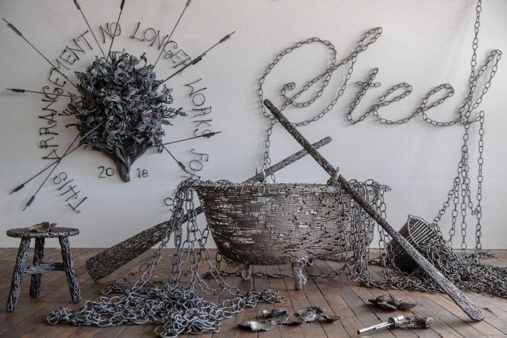 "John Bisbee ""American Steel."" (Center for Maine Contemporary Art)"