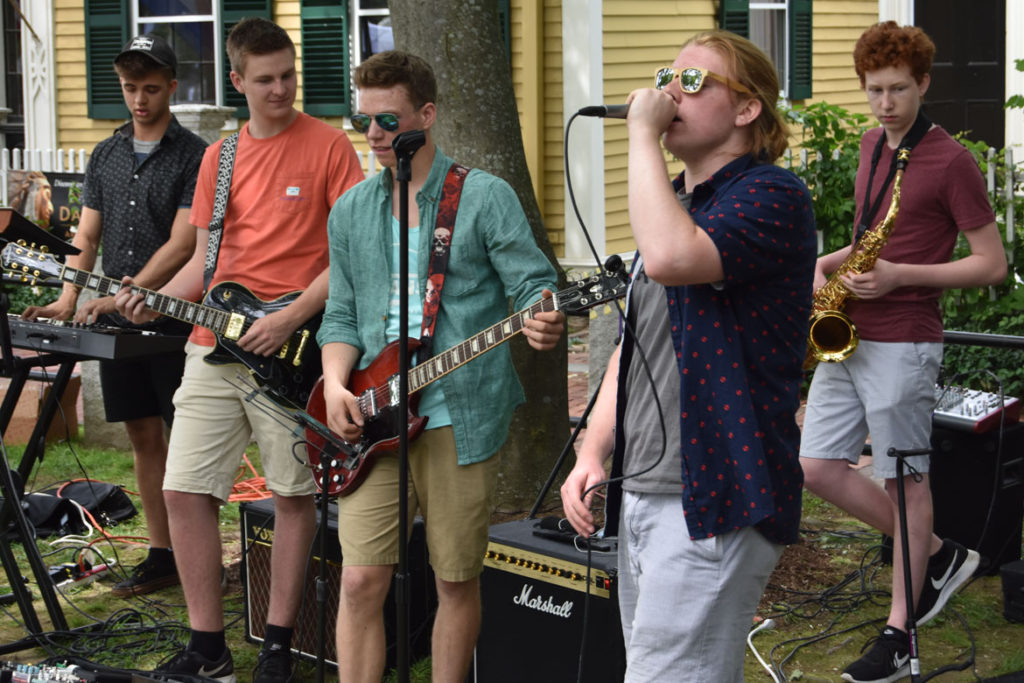 The Quinn Connell Collective plays at Arlington Porchfest, June 9, 2018. (Greg Cook)