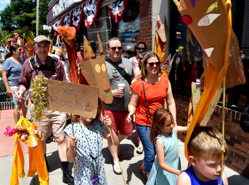 Fox Festival Parade in Arlington, June 16, 2018. (Greg Cook)