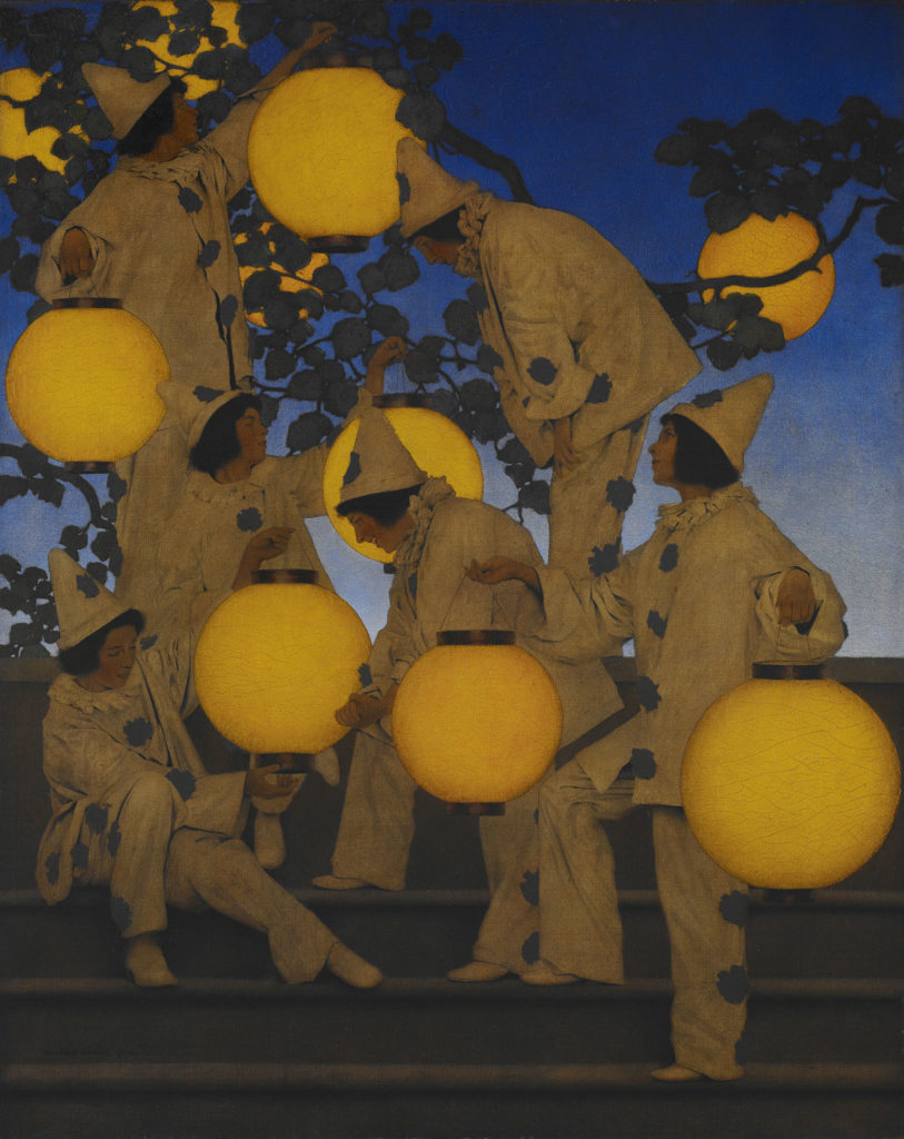 "Maxfield Parrish, ""The Lantern Bearers,"" 1908, oil on canvas. (Crystal Bridges Museum of American Art, Bentonville, Arkansas)"