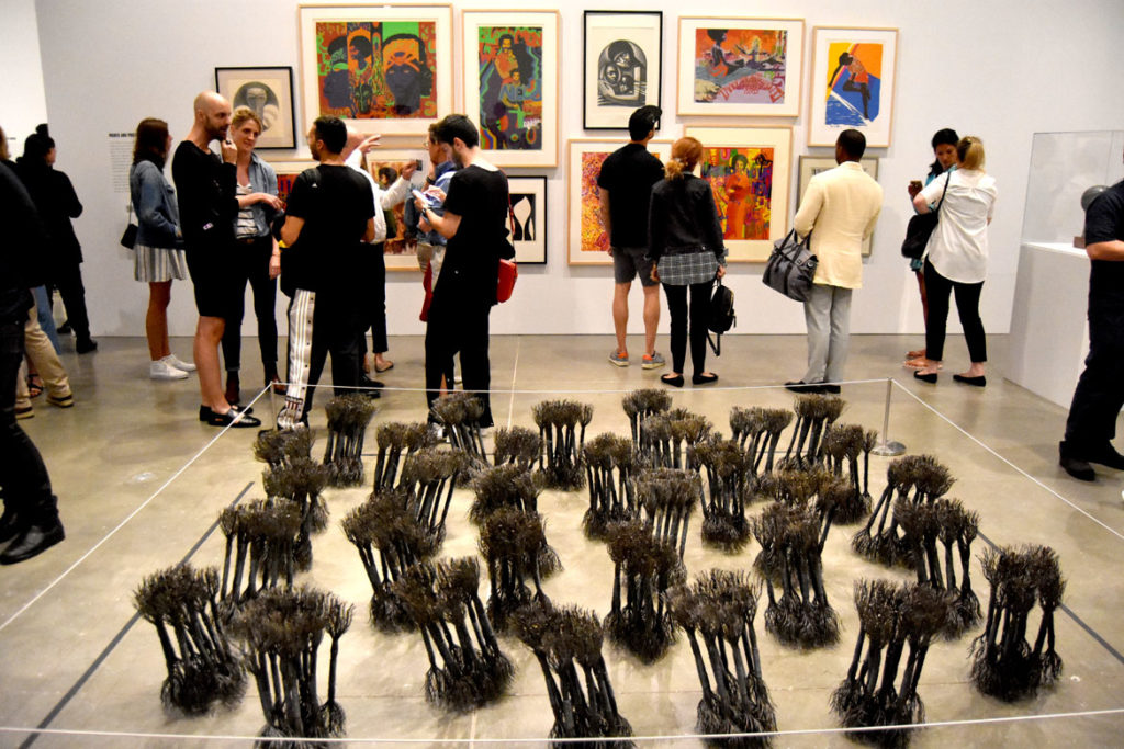 "Reception for ""We Wanted a Revolution: Radical Black Women 1965-85"" at Boston's Institute of Contemporary Art, June 28, 2018. (Greg Cook)"