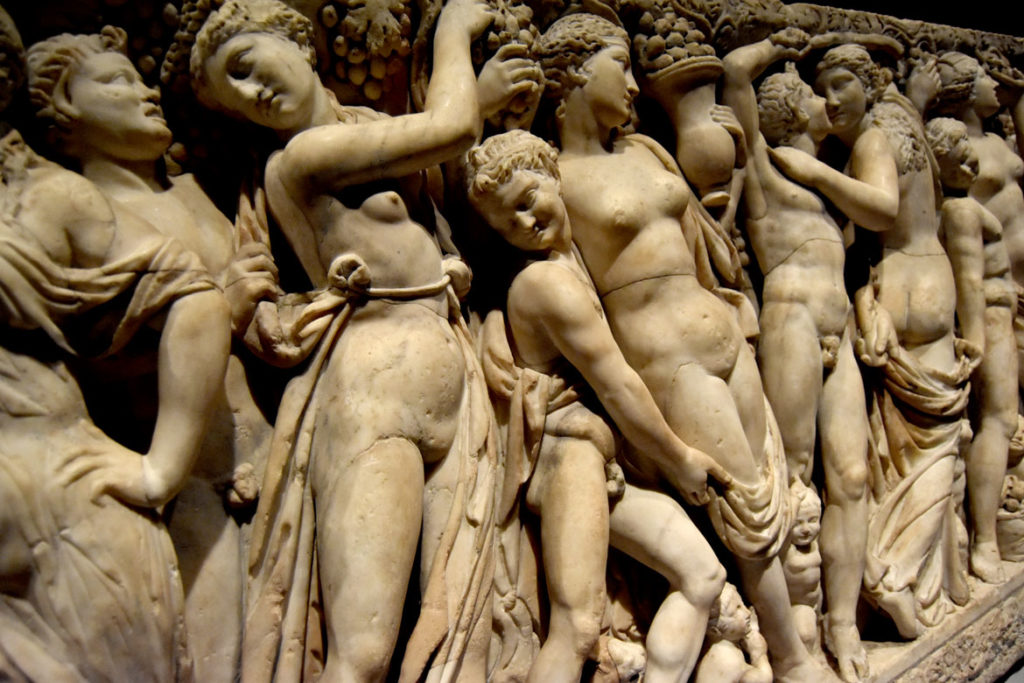 The front of the Gardner Museum's Farnese Sarcophagus. (Greg Cook)