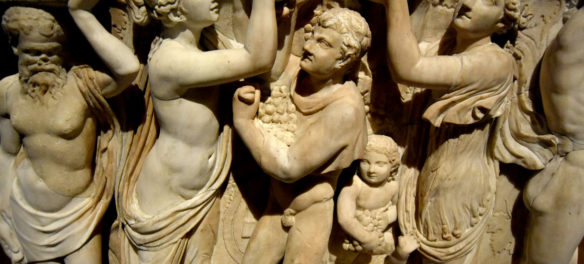 The left side of the Gardner Museum's Farnese Sarcophagus. (Greg Cook)