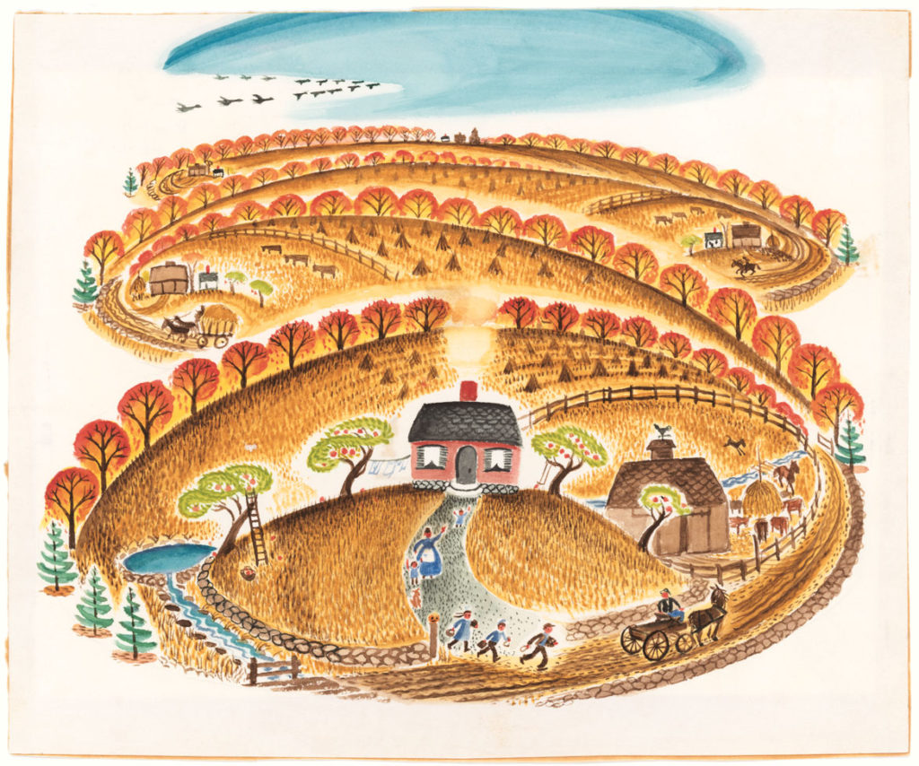 "Virginia Lee Burton Demetrios, ""Illustration from 'The Little House.'"" (Courtesy Cape Ann Museum)"