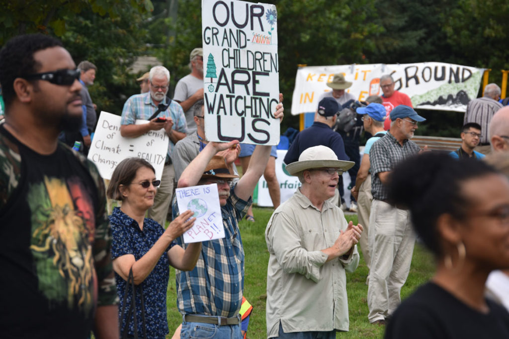 Climate, Jobs, Immigrant Rights & Justice rally at East Boston Memorial Park, Sept. 8, 2018. (Greg Cook)